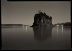 Moonlight and Fire, Tower Rock, Missouri